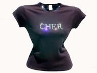 Cher Swarovski Crystal Rhinestone Concert T Shirt Top