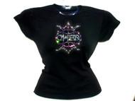Cher Gothic Swarovski Rhinestone Concert T Shirt Top