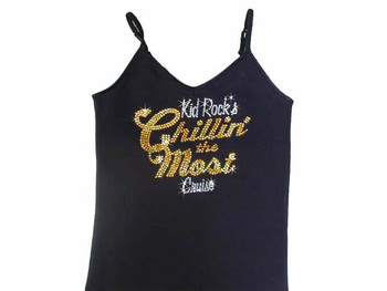 Kid Rock Chillin' The Most Swarovski Rhinestone Tank Top Shirt