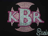 Custom KBR Business Logo Swarovski Crystal Bling T Shirt
