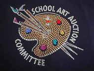 Custom School Art Auction Committee Swarovski Crystal Design