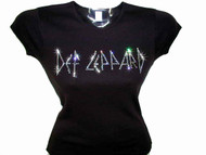 Def Leppard rhinestone concert t shirt