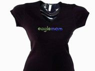 Eagle Mom or Your Team Name Mom Swarovski Crystal Bling Rhinestone T Shirt