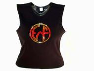Earth, Wind & Fire Swarovski Crystal Rhinestone Concert T Shirt Top
