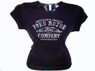 Ford Motor Company Swarovski Crystal Rhinestone T Shirt