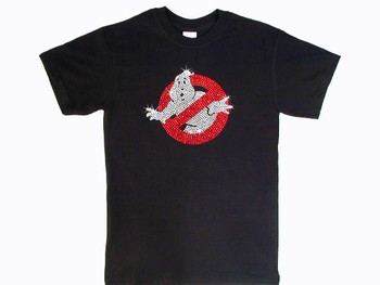 Ghost Busters Swarovski Crystal Rhinestone T Shirt