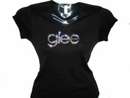 Glee TV Show Swarovski Crystal Rhinestone Tee Shirt