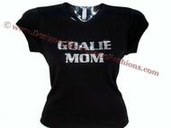 Goalie Mom Swarovski Crystal Rhinestone Studded T Shirt