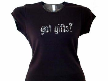 Got Gifts? Christmas Holiday Swarovski Crystal Rhinestone T Shirt