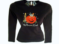 Halloween Queen Pumpkin Swarovski Crystal Rhinestone T Shirt