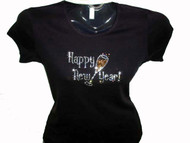 Happy New Year New Year's Eve Bling Swarovski Rhinestone T Shirt