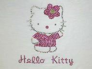 Hello Kitty Swarovski Crystal Rhinestone T Shirt