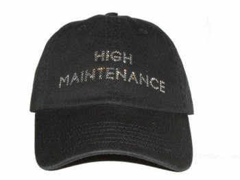 High Maintenance Swarovski Bling Hat/Cap