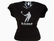 Hockey Mom Swarovski Crystal Rhinestone Studded T Shirt