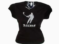 Hockey Mom Swarovski Crystal Rhinestone Studded T Shirt