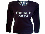 Hockey Mom Swarovski Crystal Rhinestone T Shirt or Sweatshirt