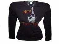 Neil Diamond Hot August Night Swarovski Crystal Rhinestone Concert T Shirt