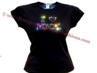 I Love Mick Jagger Swarovski crystal rhinestone t shirt