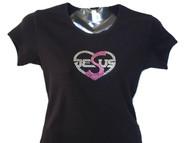 I love Jessus Swarovski crystal shirt