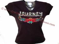 Journey Scarab Swarovski Crystal Rhinestone T Shirt Concert Top