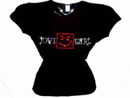 Jovi Girl Swarovski Crystal Rhinestone T Shirt Top jovigirlredcenter