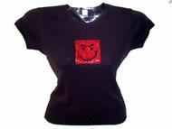 Jovi Girl Swarovski Crystal Rhinestone T Shirt Top jovismirk