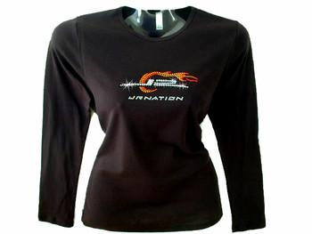 Dale Earnhardt Jr. Nation Rhinestone Bling T Shirt