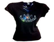 Juicy Couture Inspired Swarovski Crystal Rhinestone T Shirt Top
