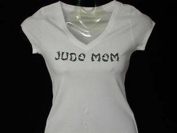 Judo Mom Swarovski rhinestone bling t shirt