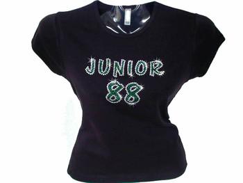Dale Earnhardt Junior Swarovski Crystal Rhinestone T Shirt