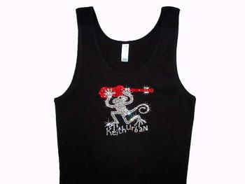 Keith Urban Monkeyville rhinestone concert shirt made with Swarovski crystals