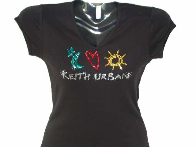 Keith urban swarovski crystal rhinestone concert t shirt for Swarovski crystal t shirts