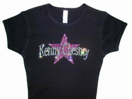 Kenny Chesney Swarovski Crystal Rhinestone T Shirt
