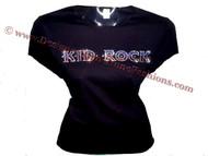 Sparkly Kid Rock Swarovski Rhinestone Bling Tee Shirt