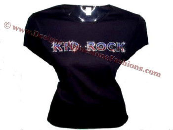 Kid rock swarovski crystal rhinestone concert t shirt top for Swarovski crystal t shirts