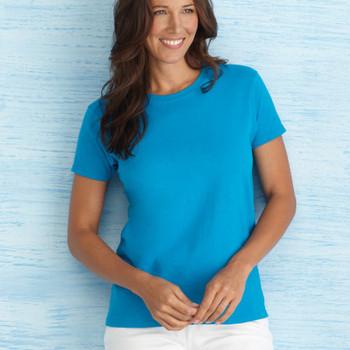 Ladies Full Cut Scoop Neck Short Sleeve T Shirt