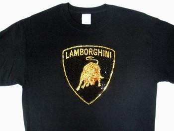 Lamborghini Swarovski Rhinestone Bling T Shirt