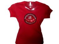 Lotus Logo Swarovski Crystal Rhinestone T Shirt