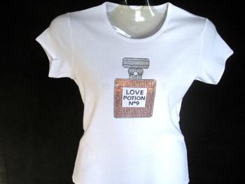 Love Potion No. 9 Perfume Swarovski Crystal T Shirt