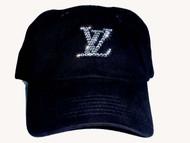 Louis Vuitton rhinestone baseball cap