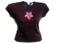 Louis Vuitton Inspired Pink Cherry Blossom Swarovski Rhinestone Shirt