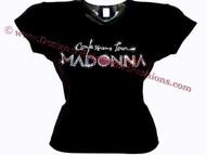 Madonna Confessions Tour Swarovski Crystal Rhinestone Concert T Shirt