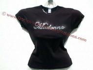 Madonna Swarovski Crystal Rhinestone T Shirt Top