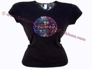 Madonna Swarovski Crystal Rhinestone Concert T Shirt Top