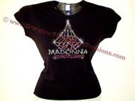 Madonna Reinvention Concert Tour Swarovski Crystal RhinestoneT Shirt Top