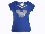 Mickey Head Swarovski Crystal Bling T Shirt