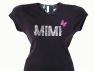 Mimi Mariah Carey butterfly rhinestone concert t shirt