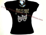 Motley Crue Carrie Underwood Rhinestone Concert T Shirt Top