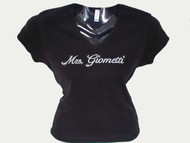 Mrs. Personalized Bride Swarovski Crystal Rhinestone T Shirt