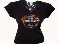 Neil Diamond Live Concert Tour 2015 Swarovski Rhinestone T Shirt